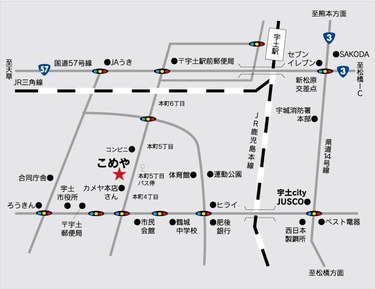 宇土市の地図