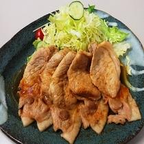 秋田のブランド豚・桃豚を使ったしょうが焼き。甘みがあってさっぱりとした味わい。