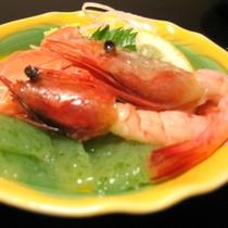 ■夕食一例(カルパッチョ)