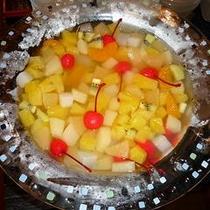 料理長手作りのフルーツカクテル!