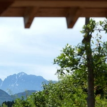 客室から眺める剱岳