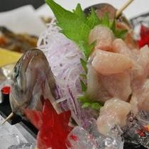 【川魚三昧】 *岩魚を焼いたり揚げたり、刺身だったり。