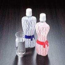 【おみやげ】  *当館オリジナルの「温泉水ペットボトル」です。身体の中から温泉効果をぜひ!