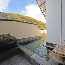 【貸切風呂:谷川】  *湯船に浸かりながら眺める谷川岳は絶景のひと言。雄大な景色をお楽しみください。
