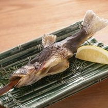 【岩魚塩焼き】 *清流で育った岩魚。スタンダードに塩焼きで。