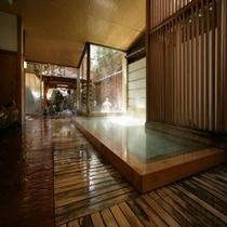 【大浴場内湯③】 *江戸時代からこんこんと湧き続けるやわらかいお湯をこころ行くまでお楽しみください。