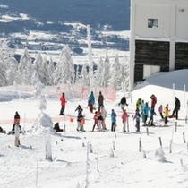 山岳スキー(山頂駅)