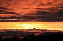 2010年秋御岳の夕日