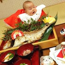 【お食い初め祝膳】ベビーが一生食べ物に困らないように願って♪