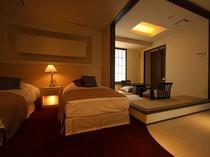 エクゼクテイブコーナースイート「ベッドルーム&和室」