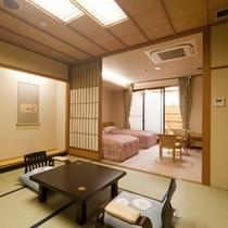 湯の華の郷 露天風呂付客室和室8畳+ツインベッドールーム露天風呂付