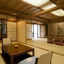 「吉祥亭特別室」和室15畳+9畳 +露天風呂付客室