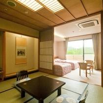 「龍宮殿新館客室」8畳+ツインベットルーム