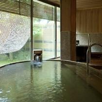 内湯「白寿」の湯。貸切風呂での利用も可。(要問合せ)