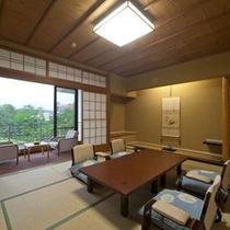 田園風景が広がる「吉祥亭客室」の一例