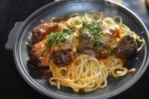 夕食(鉄板焼き)一例
