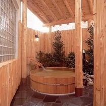 *【露天樽風呂】趣のある露天風呂でかけ流しの湯を満喫