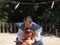 10月体育の日 山王宮赤ちゃん相撲