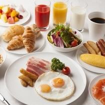 朝食メニューの数々
