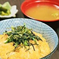 朝食(玉子丼)