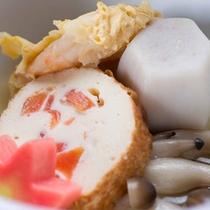 *お夕食一例(煮物)/和風だしでじっくりことこと煮込んだ一品。体に染み入る優しい味わいが◎