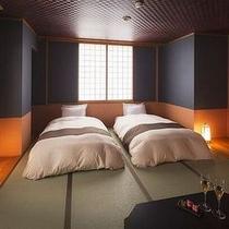 【落ち着いた雰囲気の和モダン・ベッドルーム】気取らず、明るくゆったりと寛ぐ