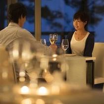 【二人にとって特別な時間を過ごす】オーベルジュならではの上質なディナーをお召し上がり下さい