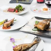 「大地と海の競演」フルコース/一例風薫る季節に愉しむ美食