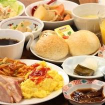 □朝食バイキング(盛付例:洋食)