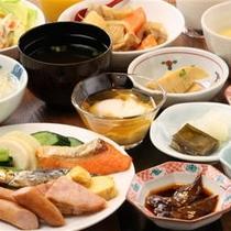 □朝食バイキング(盛付例:和食)