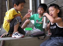 子供達の夏:友達と遊ぶ毎日