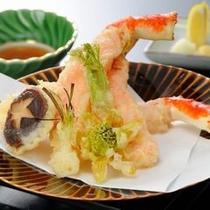 追加料理:タラバ蟹の天ぷら(イメージ)