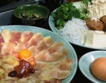 鍋(地鶏すき焼き)