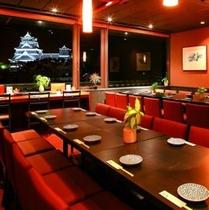 10階「ダイニング六花」熊本城の眼下で絶好のロケーション♪