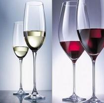 グルメプランは赤白ワインの飲み放題も選べます