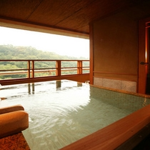 【別邸そらの庭】5階≪青嵐・野分・風花≫澄んだ空気に包まれて(写真は「野分」客室露天風呂)