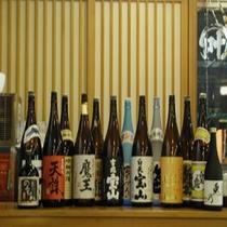 鹿児島の芋焼酎を中心に料理に合うお酒を多数取り揃えております。