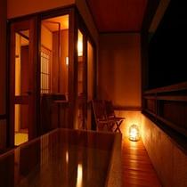 【別邸そらの庭】≪山瀬・有明≫美肌効果が高いと言われる『白銀の湯』客室露天風呂(写真は「有明」)