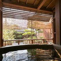 【別邸そらの庭】≪山瀬・有明≫庭園を眺めながら入れる客室露天風呂(写真は「山瀬」)