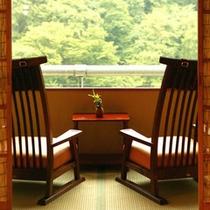 【別邸そらの庭】5階≪青嵐・野分・風花≫和椅からこの絶景を独り占め(写真は「青嵐」広縁)