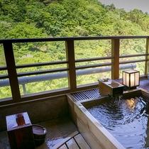 【別邸そらの庭】4階「佐保」客室露天風呂