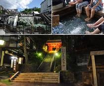 源泉【地蔵の湯】は宿のすぐ隣。湯畑、バスターミナルまで徒歩約5分。観光の拠点として絶好の立地。