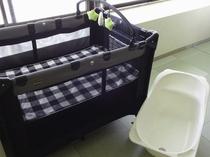 大浴場にはベビーベッドとベビーバスをご用意