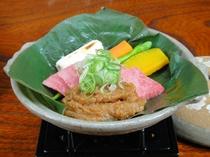 飛騨牛朴葉味噌焼(飛騨牛料理チョイスプラン用)