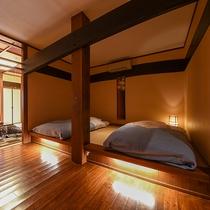 *【部屋(露天付和室・小上がりver)】檜風呂・丸風呂など部屋によって異なるお風呂がございます。