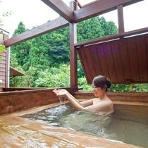 *【露天風呂付客室】自然の風を感じながらの湯浴みをお楽しみください。