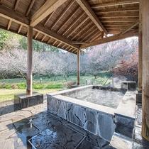 *【風呂(白梅の湯A露天風呂)】自然を眺めながらゆっくりとお寛ぎいただけます。