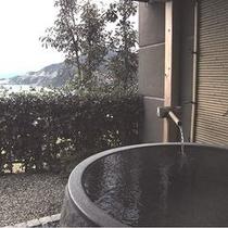冠のお部屋のプライベート露天風呂