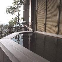朝妻桜のお部屋のプライベート露天風呂