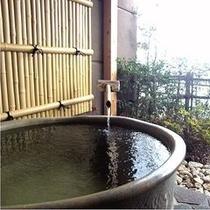 百日紅のお部屋のプライベート露天風呂